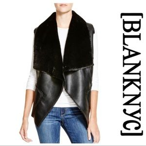 BLANK NYC • Faux fur collar vest
